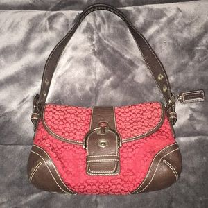 COACH SOHO RED HANDBAG #D06W-6818
